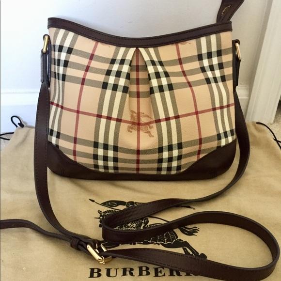 6f3dd210582 Burberry Handbags - Authentic Burberry haymarket check cross body bag